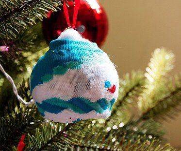 snowman bauble socks tree