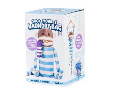 sock monkey laundry bag box