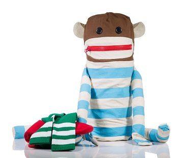 sock monkey laundry bag clothes