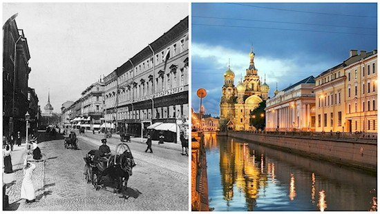 st petersburg then now