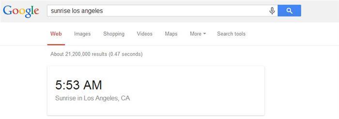 sunrise google