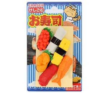 sushi erasers pack