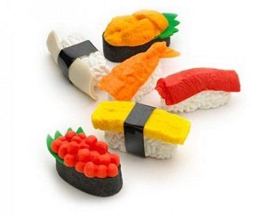 sushi erasers set