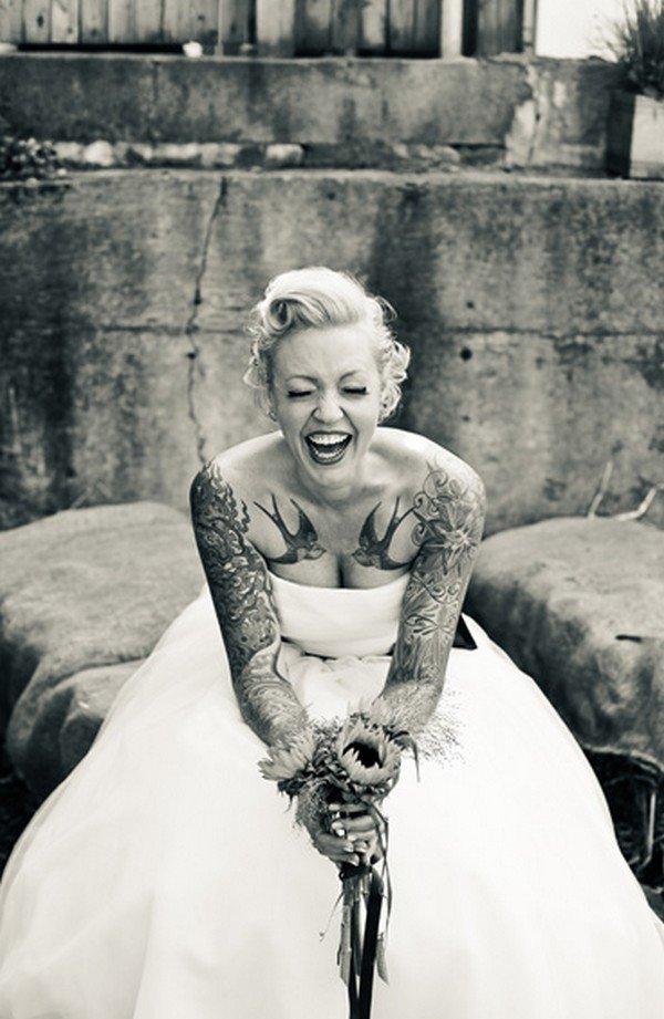 swallow tattoo bride