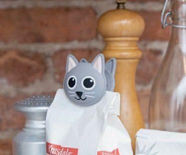 talking cat bag clip