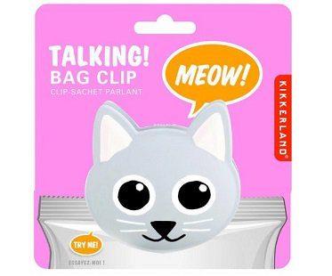 talking cat bag clip pack