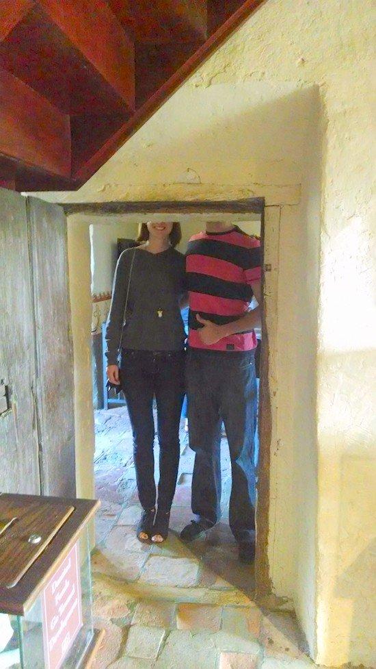 tall couple doorway