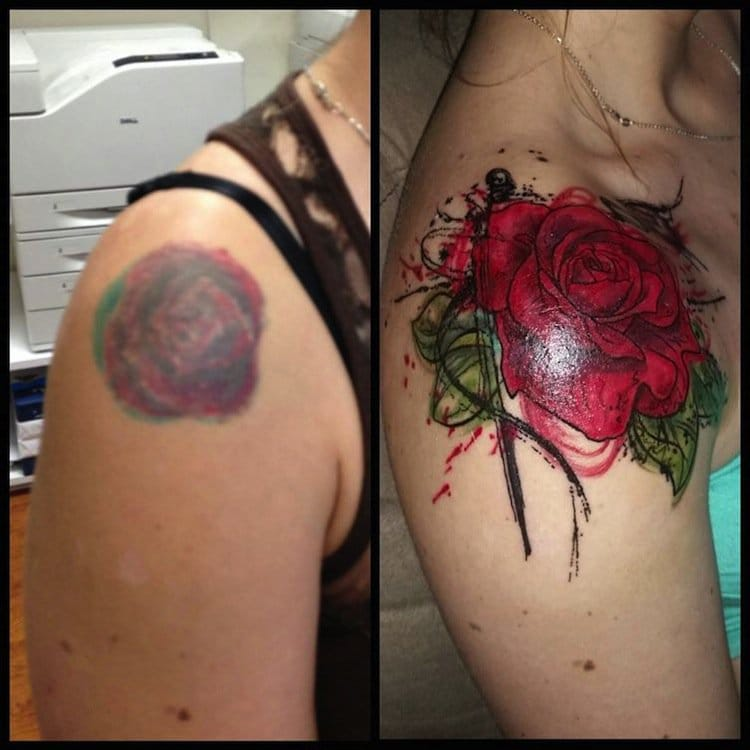 579bd63a8177 16 Bad Tattoos That Were Covered Up Amazingly Well