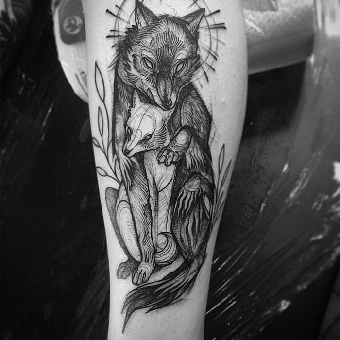 tattoo-foxes