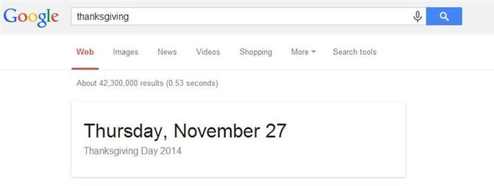 thanksgiving google