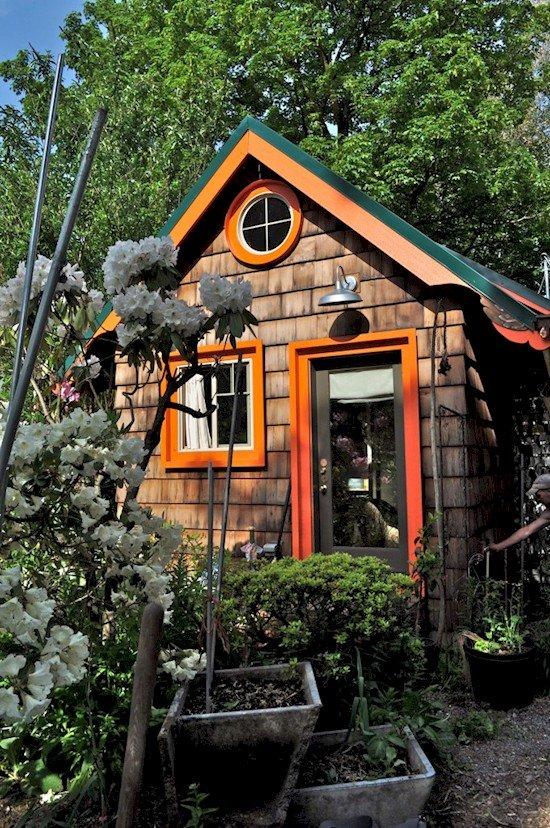 tiny house greenery