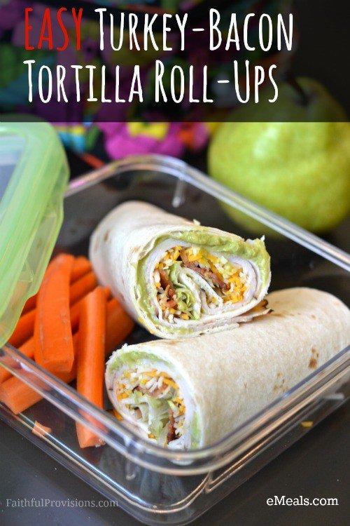 Turkey-Bacon Tortilla Roll-Ups