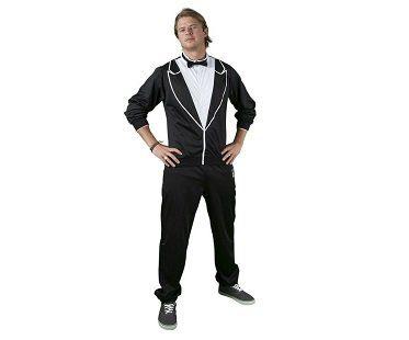 tuxedo tracksuit black