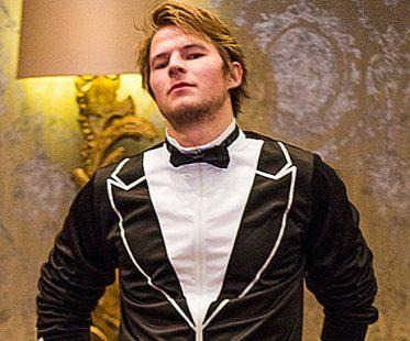tuxedo tracksuit black bow