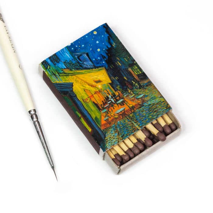 van-gogh-paintings-on-matchboxes-cafe-terrace