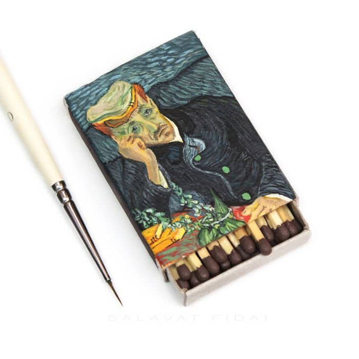 van-gogh-paintings-on-matchboxes-dr-gachet