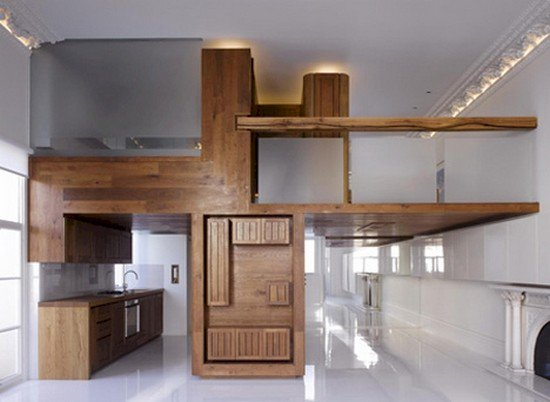 wooden levels apartment