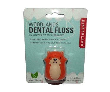 woodland fox dental floss pack