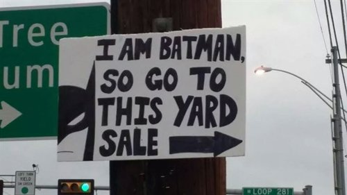 how to make yard sale signs