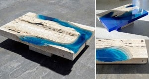 Alexandre Chapelin Marble And Resin Lagoon Tables