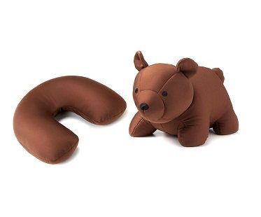 Bear Zip and Flip Travel Pillow