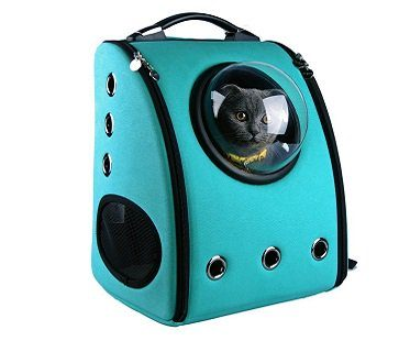Bubble Backpack Pet Carrier turquoise