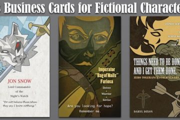 Business Cards Designed Fictional Characters