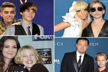 Celebrities Posing With Younger Selves