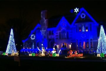 Christmas Light Show Support Wounded Veterans