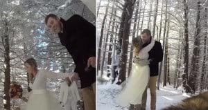 Couple Dog Film Their Wedding