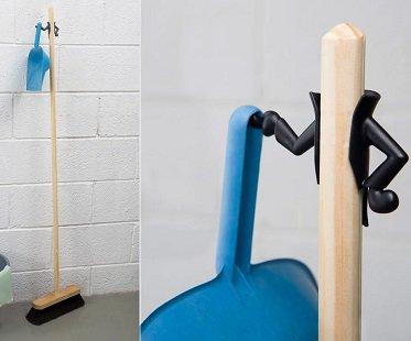 Dustpan Holder And Broom Hanger