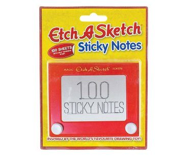 Etch-A-Sketch Sticky Notes pack