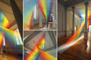 Gabriel Dawe Rainbow Sculpture Everyday Material