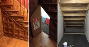 Harry Potter Themed Cupboard Under Stairs