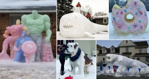 Incredible Snow Sculptures Art