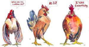 Janie Stapleton Chicken Paintings