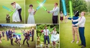 Meinardas Valkevicius Star Wars Themed Wedding Photos