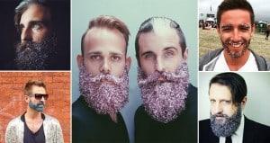 Men Glitter Beards Trend