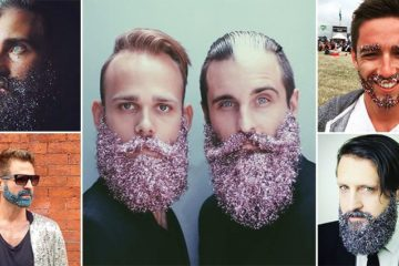 Men Glitter Beards Trend