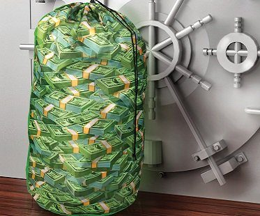 Money Stacks Laundry Bag