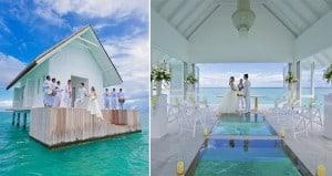 Overwater Glass-Aisled Wedding Pavilion Maldives