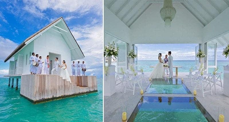 Overwater Gl Aisled Wedding Pavilion Maldives
