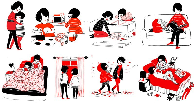 24 Adorable Illustrations That Show Love Is Found In The Small Things