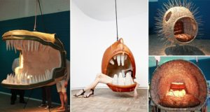 Porky Hefer Hanging Chairs Mouths Aquatic Creatures