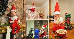 Real-Life 'Elf On The Shelf' Baby