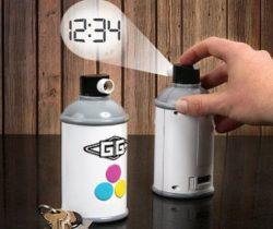 Spraypaint Projection Clock