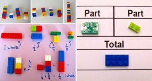 Teacher Using Legos To Teach Math