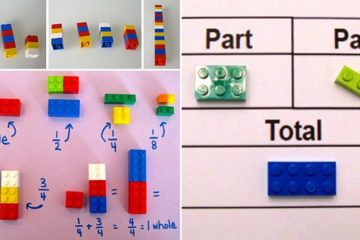Teacher Using Legos To Teach Math