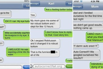 Text Messages Auto Correct Function