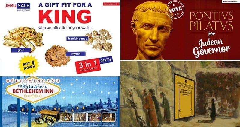 Vladi Paunescu Mario Niculae Advertising Biblical Times